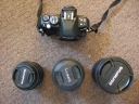 Olympus E420 with 3 lenses